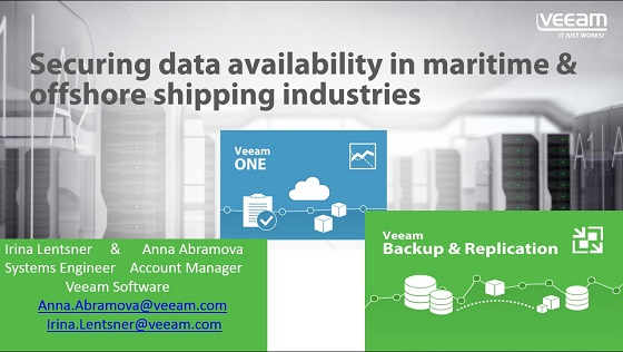Securing Data Availability in Maritime and Offshore Shipping Industries