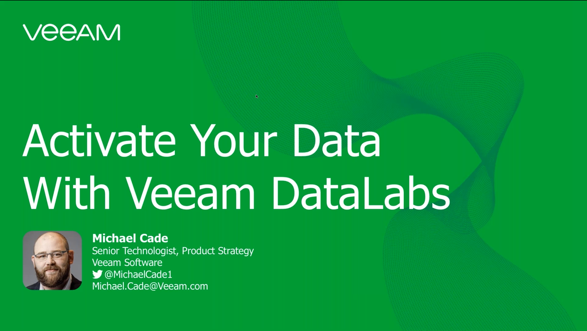Activate your data with Veeam DataLabs