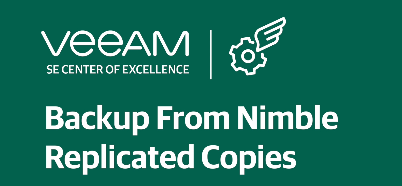How to backup from Nimble Replicated Copies