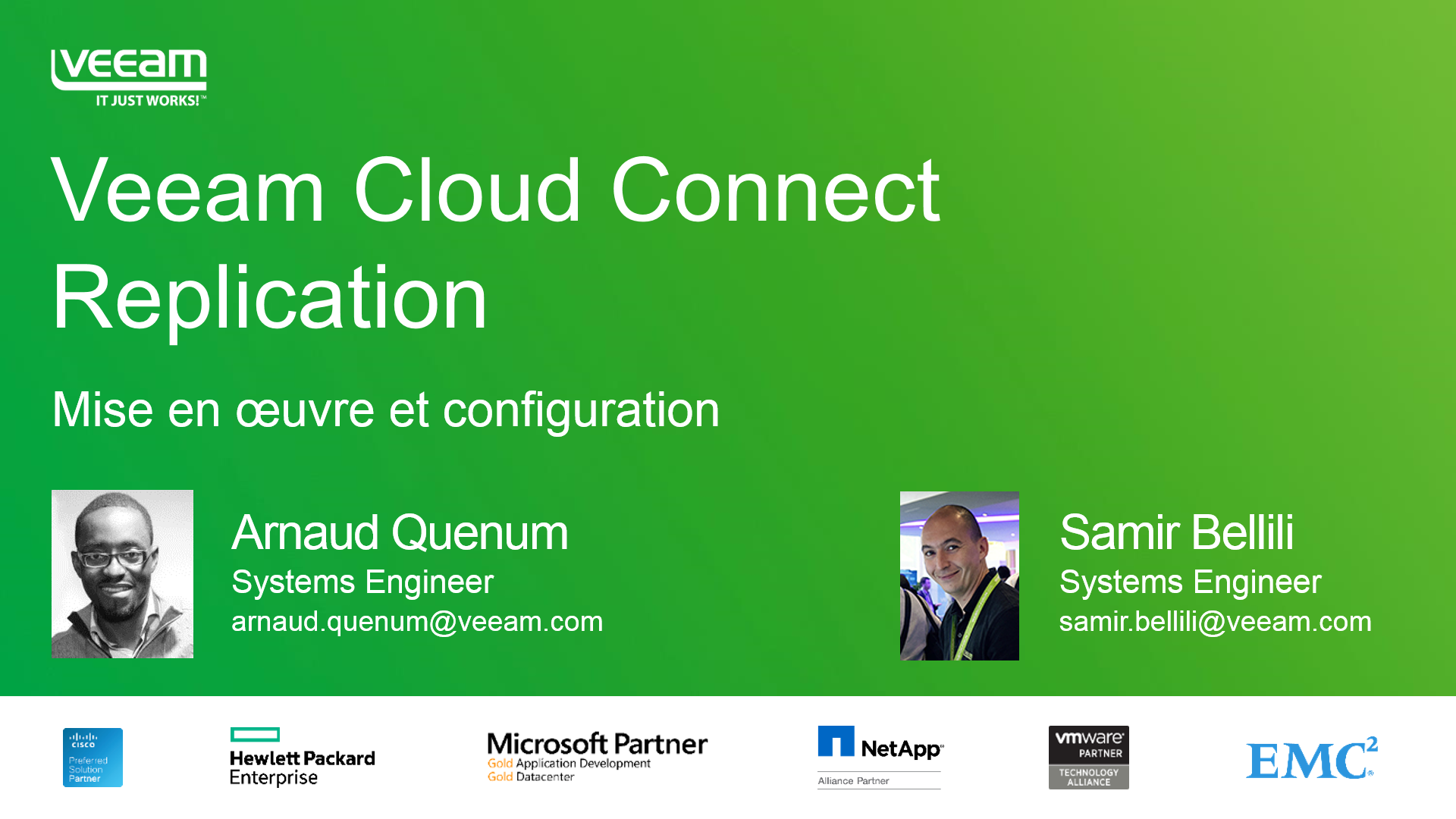 Veeam Cloud Connect Replication : Installation et configuration