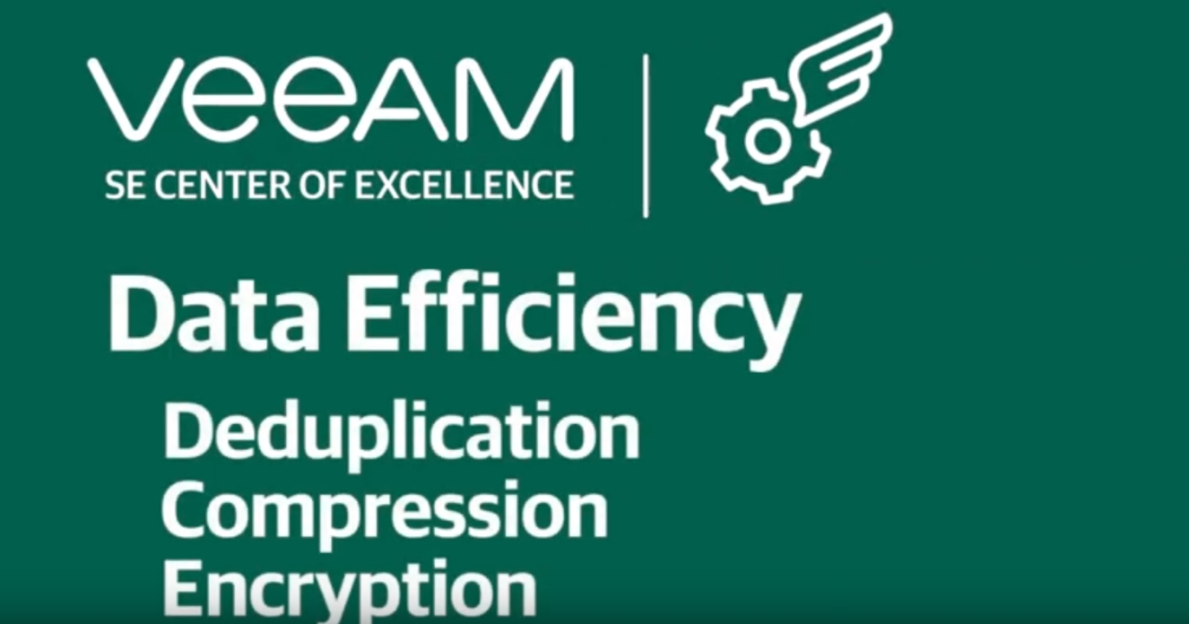 How to achieve Data Efficiency using Deduplication, Compression & Encryption?
