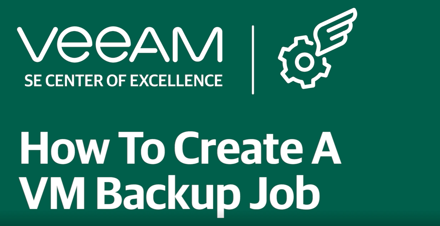 How to create a VM backup job