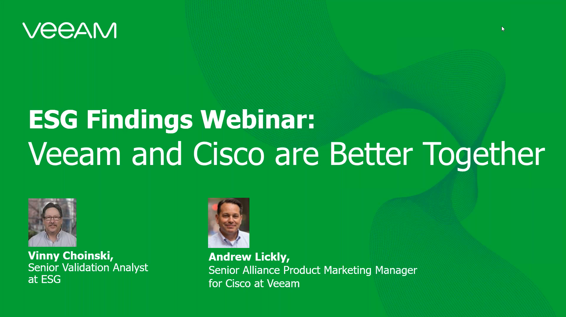 ESG Webinar: Simplifying Data Protection with Cisco and Veeam