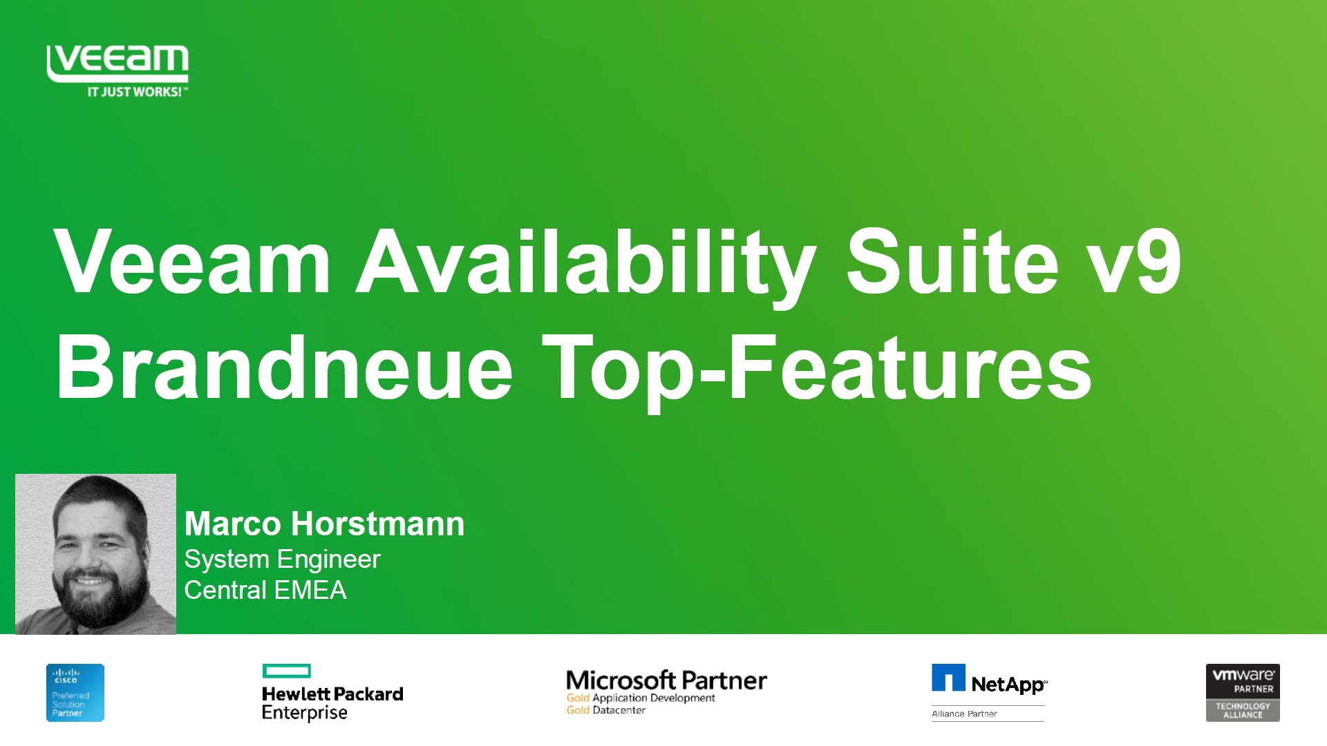 Technisches Webinar zur Veeam Availability Suite v9 – brandneue Top-Features