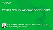What's New: Windows Server 2019