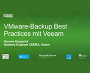 VMware Backup mit Best Practices von Veeam – Edition 2014