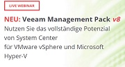 NEU: Veeam Management Pack v8 Live