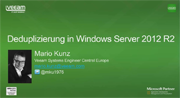 Datendeduplizierung in Windows Server 2012 R2 im Detail