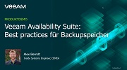Veeam Availability Suite Best Practices für Backup Speicher