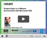 Protect apps in a VMware environment with Microsoft VSS