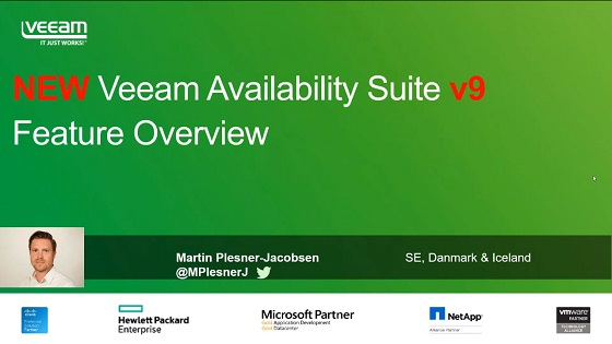 NY Veeam Availability Suite v9 Feature Oversigt