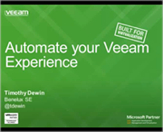 Automate your Veeam Experience