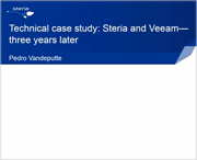 Technical case study Steria and Veeam - three years later