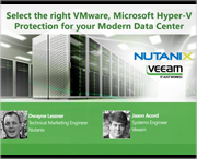 Select the right VMware, Hyper-V protection for a modern data center