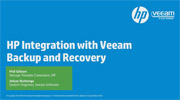 HP Storage integration with Veeam Availability Suite
