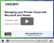 Managing your Private Cloud with Microsoft and Veeam