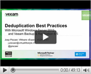 Deduplication best practices with MS Windows Server 2012 and Veeam Backup&Replication 6.5