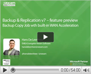 Backup copy jobs with built-in WAN acceleration