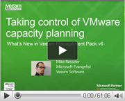 Take control of VMware capacity planning with Veeam Management Pack v6