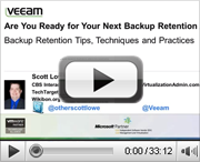 VMware admins: Are you ready for your next backup retention audit