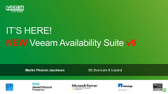 Så er den her! NEW Veeam Availability Suite v9