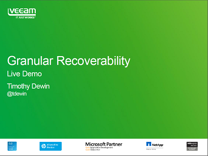 Achieving Maximum Backup Granularity with Veeam Availability Suite