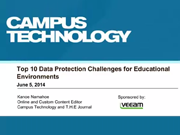 Top 10 Data Protection Challenges for Educational Environments