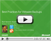 Best practices for VMware backup
