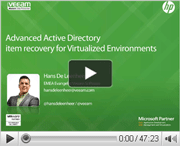Advanced Active Directory item recovery for VM environments