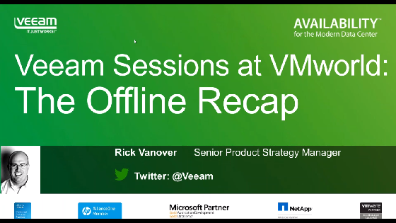 Veeam Sessions at VMworld Barcelona: The Offline Recap