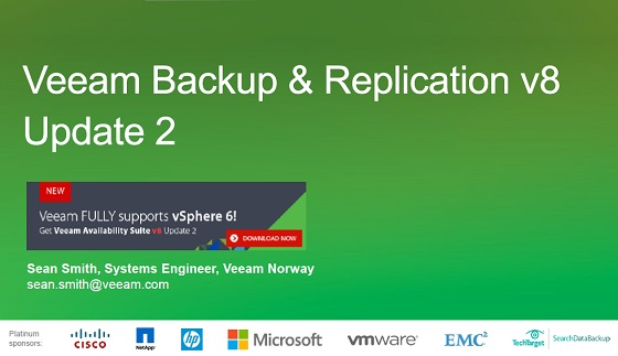 Veeam Availability Suite v8 Update 2 FULL vSphere 6 support, Endpoint og mye mer!
