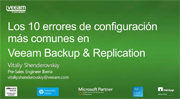 Top 10 errores de configuración de Veeam Backup Replication