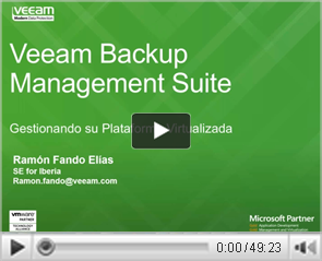 Veeam Management Suite: Gestionando su Plataforma Virtualizada con ONE