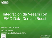 Veeam Backup y Replicación v8 ahora con EMC Data Domain