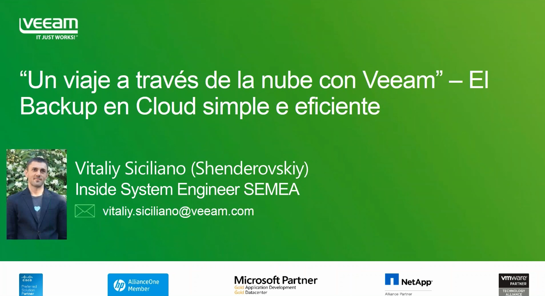 """Un viaje a través de la nube con Veeam"" – El Backup en Cloud simple y eficiente"