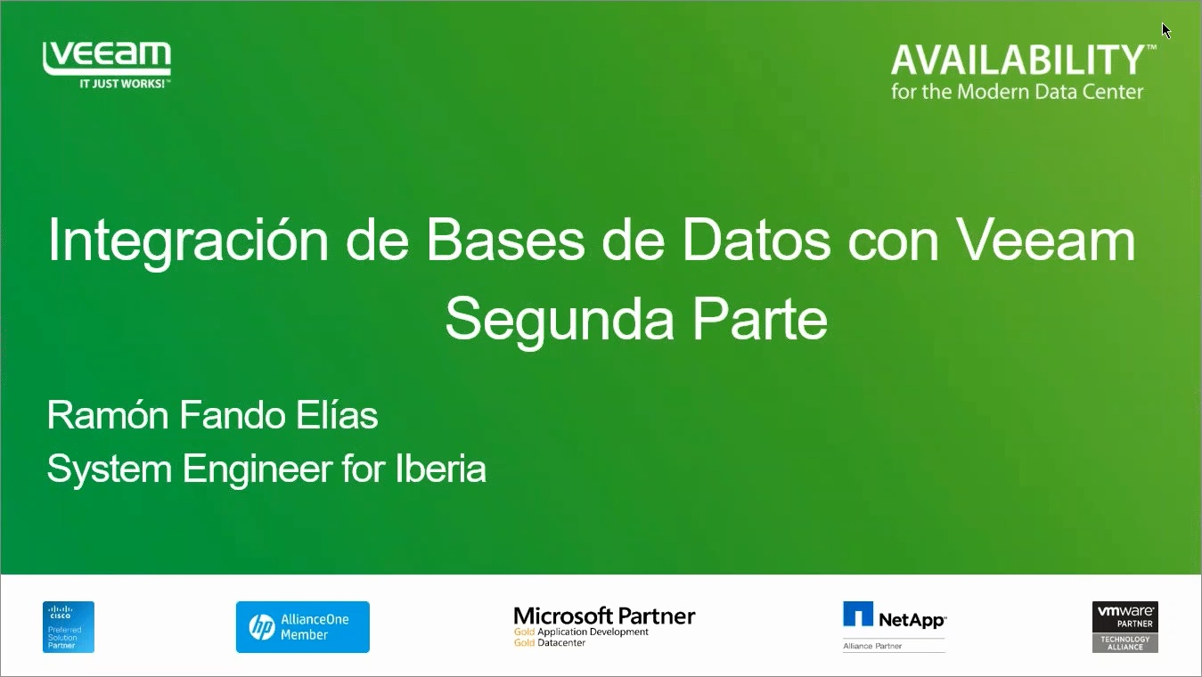 Data Recovery Series. Segunda Parte. Veeam Explorer para Bases de Datos