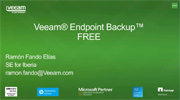 ¡Toma de Contacto! Veeam Endpoint Backup Free