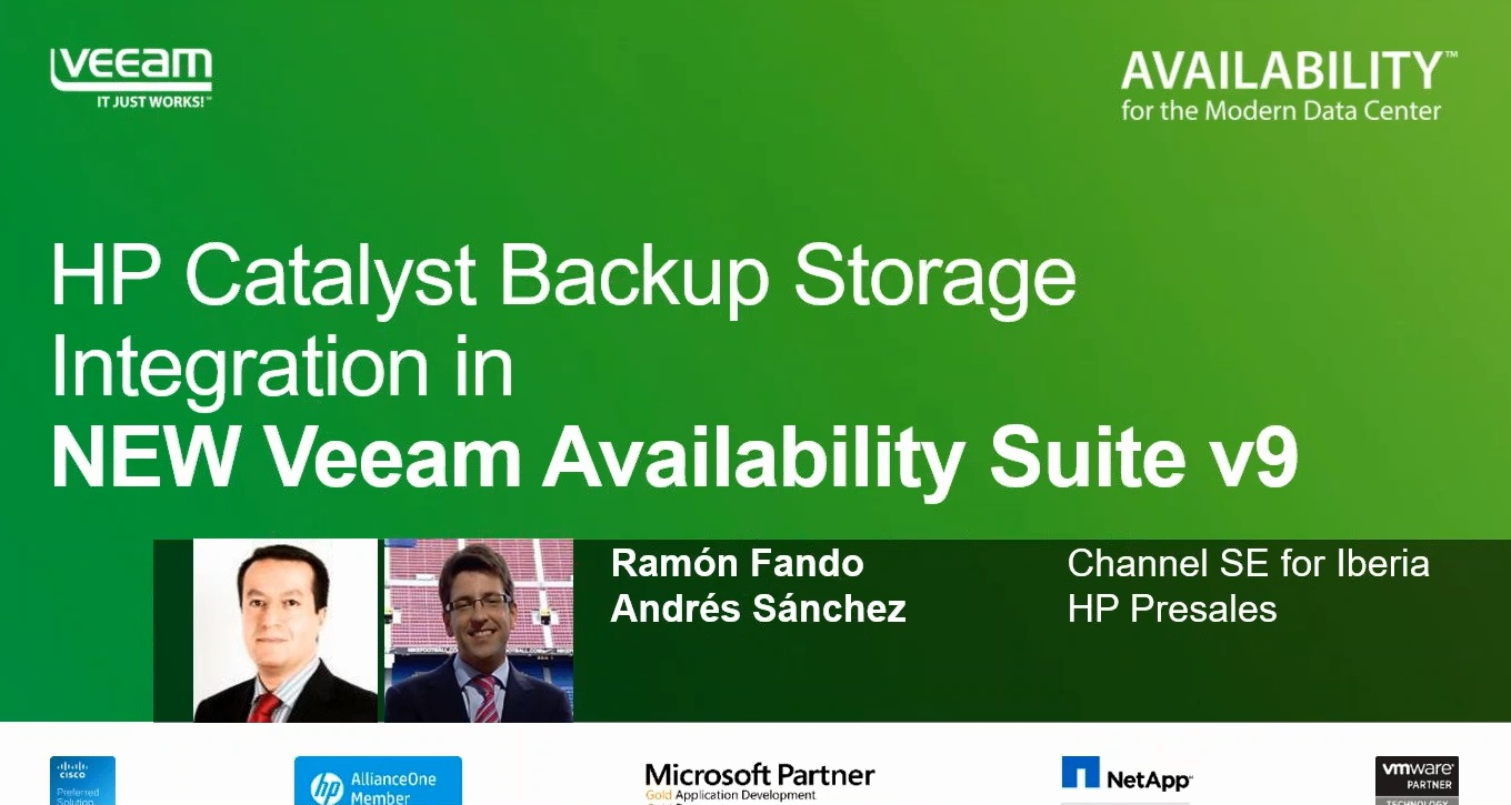 Veeam Availability Suite v9:  integración con HP StoreOnce Catalyst