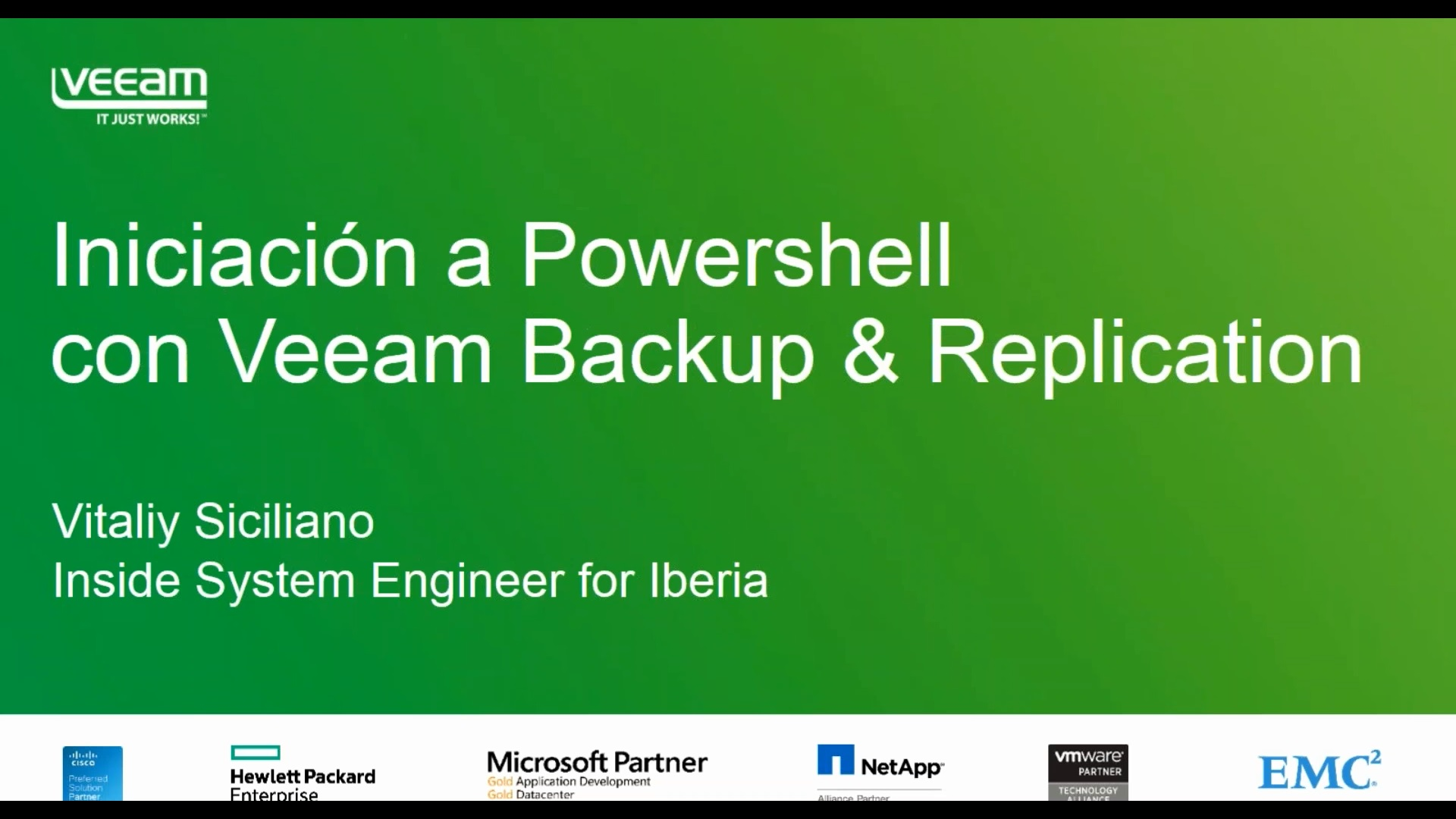 Primeros pasos con Powershell en Veeam Backup & Replication