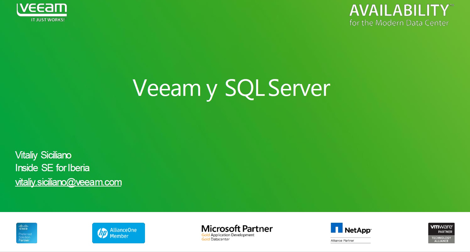 Veeam y Microsoft SQL Server series: Always-On (Siempre disponible)