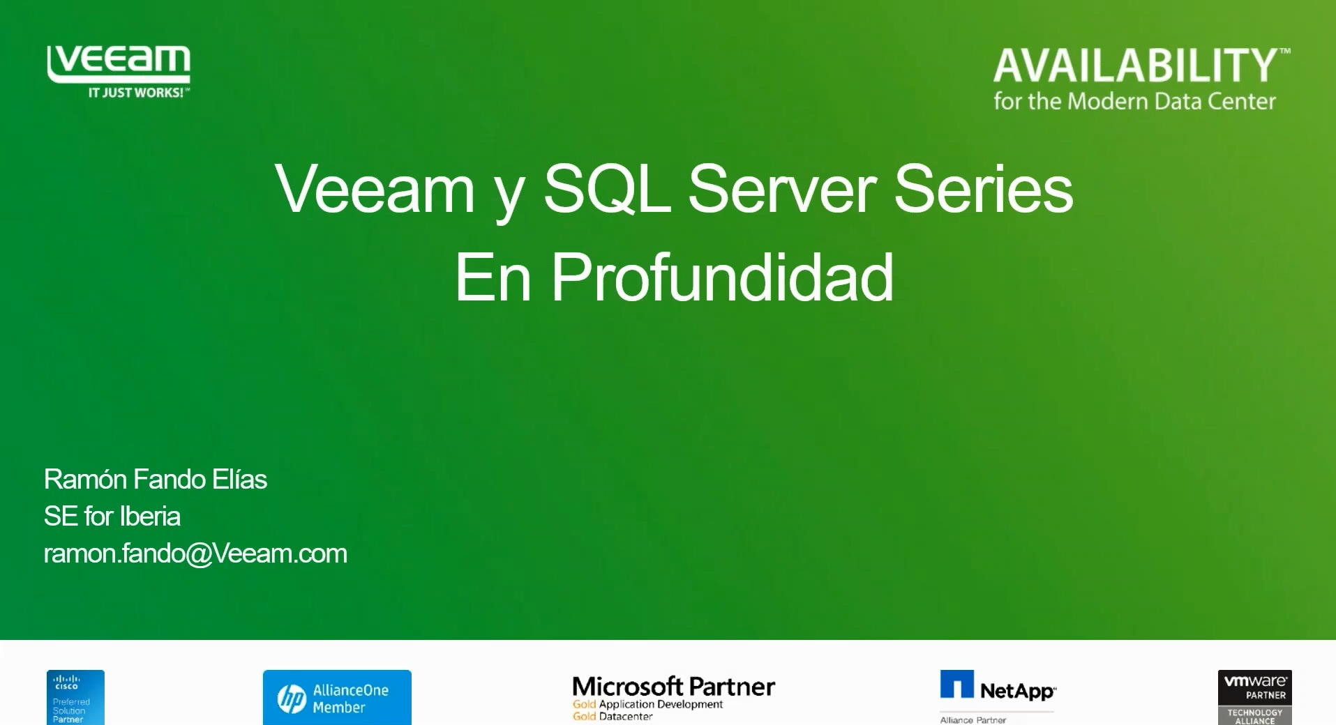 Veeam y Microsoft SQL Server series: En profundidad