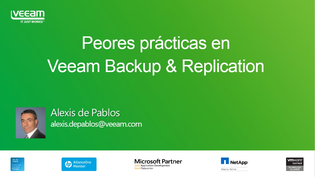 Peores prácticas en Veeam Backup & Replication