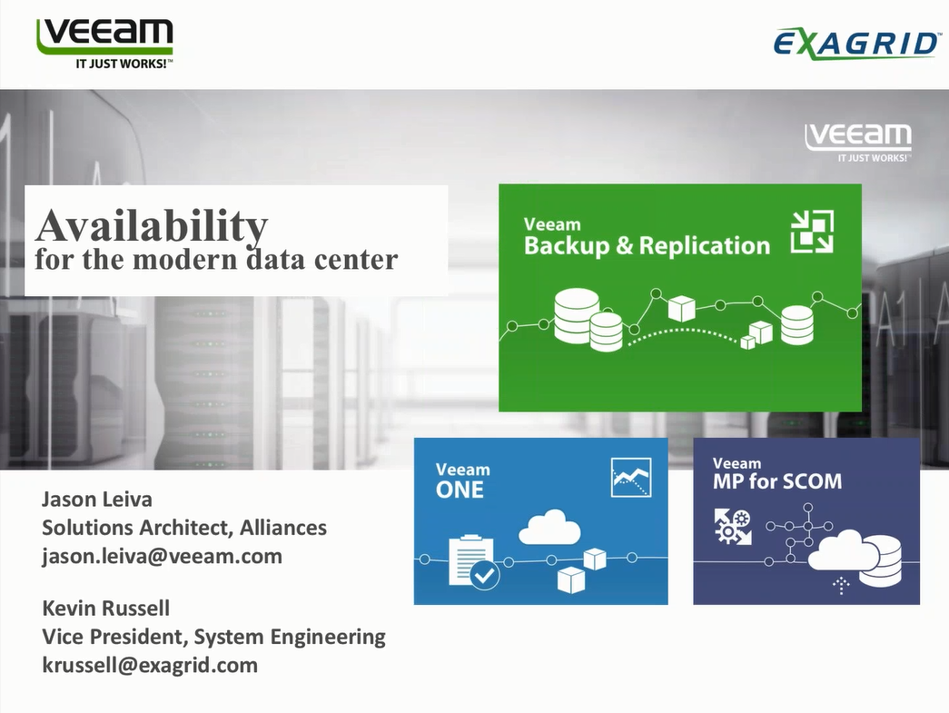 High Availability for the Modern Data Center with Veeam & ExaGrid