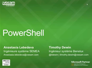 Powershell & Veeam. Partie I
