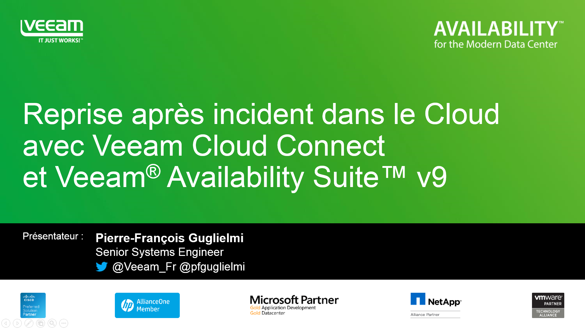 Reprise après incident dans le Cloud avec Veeam Cloud Connect et Veeam® Availability Suite™ v9