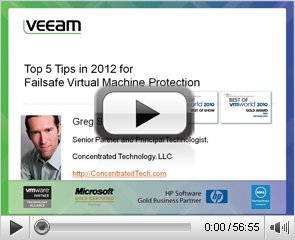 Top 5 Tips in 2012 for failsafe virtual machine protection
