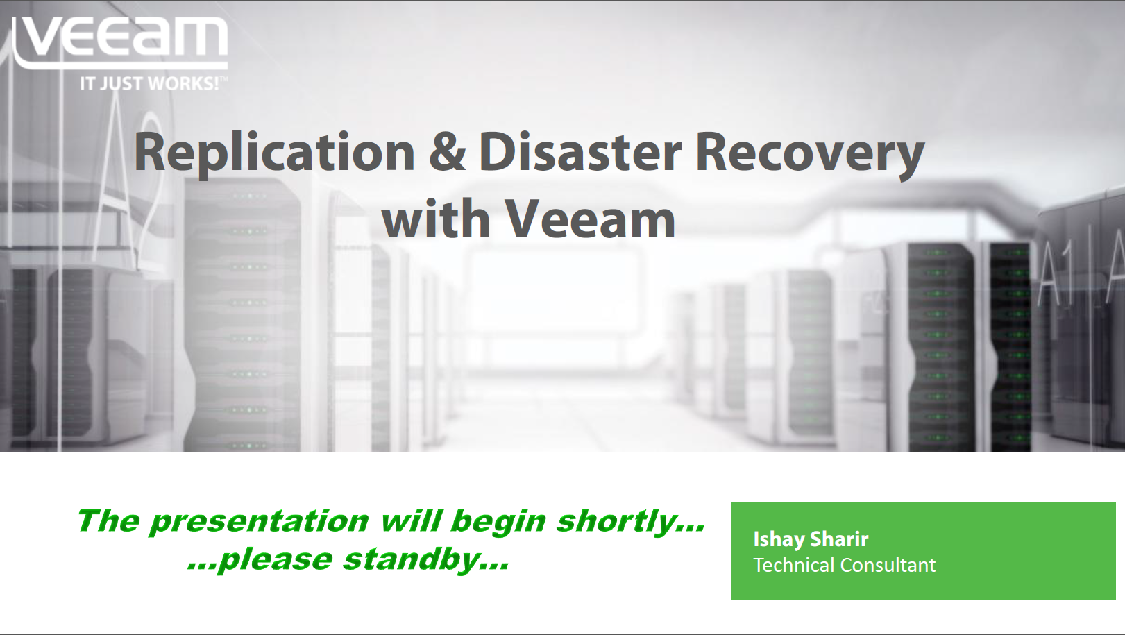 Replication & Disaster Recovery with Veeam