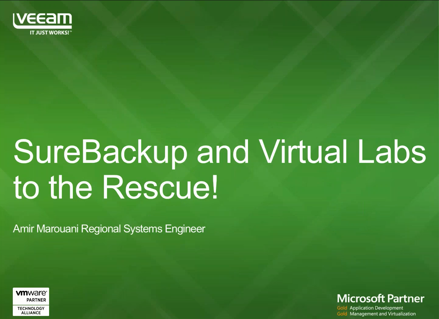 Business Challenges Met SureBackup and Virtual Labs to the Rescue!