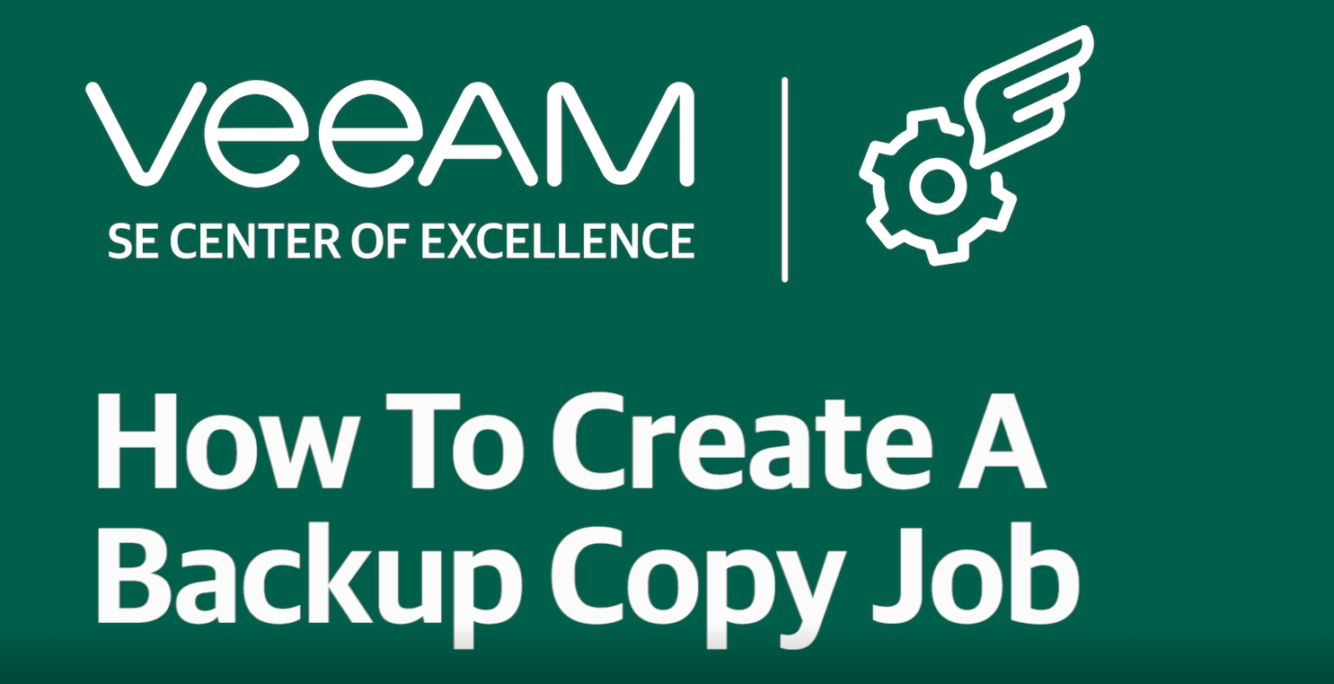 How to create a backup copy job