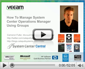 How to manage System Center Operations Manager Using Groups
